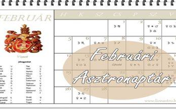 asztronaptár február