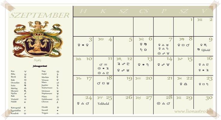 asztrológiai naptár
